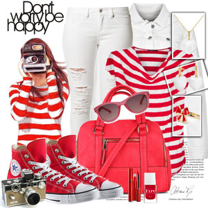 Outfit red style von Justine