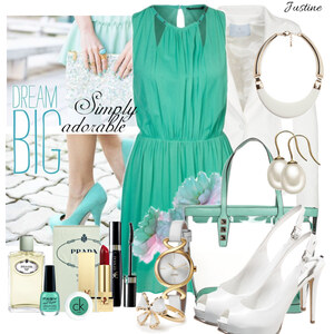 Outfit adorable mint von Justine