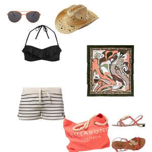 Outfit Strandoufit in Lachsfarbe von janni_westside