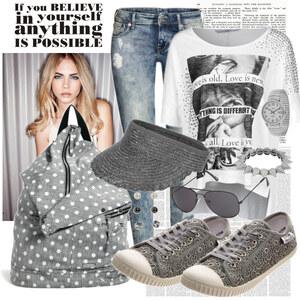 Outfit Grey style von Justine