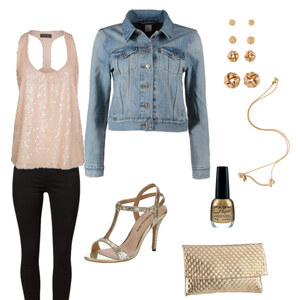 Outfit glamour girl f. jeans tough von janni_westside
