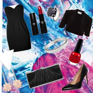 Outfit Schwarz, schlicht, sexy von Jeanine