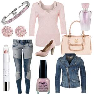 Outfit rosa im alltag von kimi