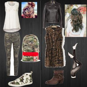 Outfit Camouflage von Celine Eichenberg