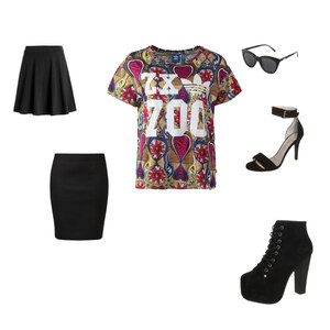 Outfit Black von Xenia
