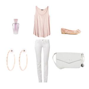 Outfit rosa und weiß von Blume