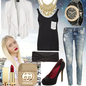 Outfit blackandwiht von fashion-