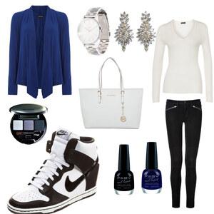 Outfit Schwazweißblau von AnnaSeder