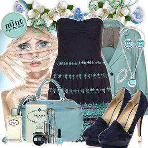 Outfit blue shadow von Justine