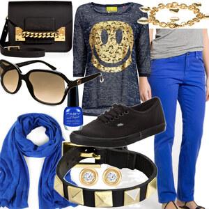 Outfit Bequem in Goldblau von Lisa Bunzel