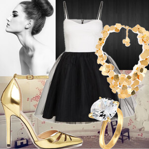 Outfit I love gold von laridarling