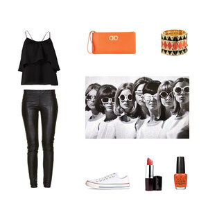 Outfit Fashion in Orange von Anjasylvia ♥