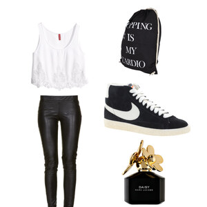 Outfit Blackleather meets nikes von BBfoxy
