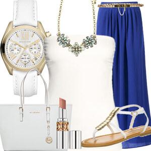 Outfit BlauGold von dilaaan