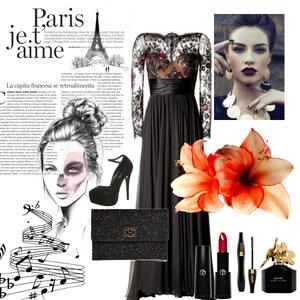 Outfit Nacht in Paris von Alisa Lillifee