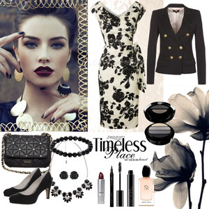 Outfit Black Flowers von Heidi Bordt