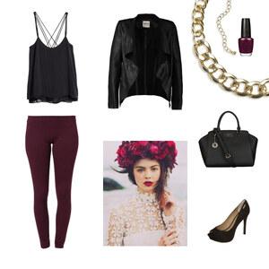 Outfit Bordeaux von Anjasylvia ♥