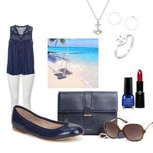 Outfit am Strand spazieren von Bianka