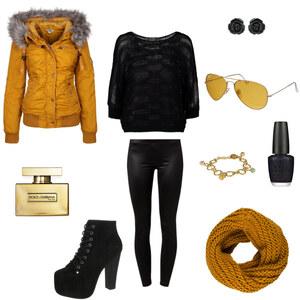 Outfit Wintergelb von AnnaSeder