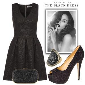 Outfit The Black Dress von Elena Tsch