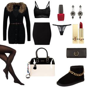 Outfit Winterschwarz von AnnaSeder
