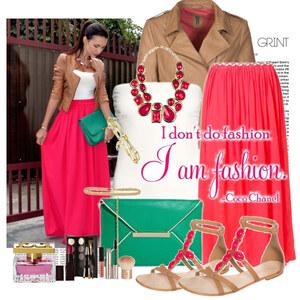 Outfit pink von Justine