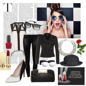 Outfit Black&White von Verena Schnall