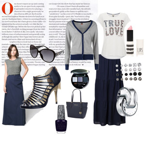 Outfit Maxirock in blau von Verena Schnall