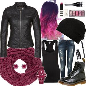 Outfit Rock'n'Roll in purple-black von Lisa Bunzel