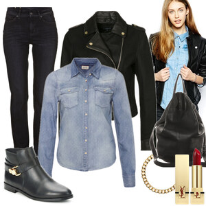 Outfit Meine Lederjacke & ich von -lia-