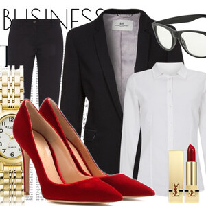 Outfit Akzent im Büro von -lia-