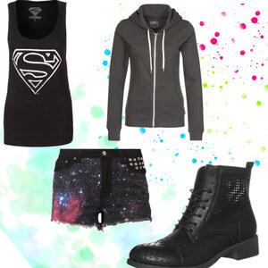 Outfit Super Girl In black von indie-rock