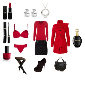 Outfit Red & Black von Andrijana Malesevic