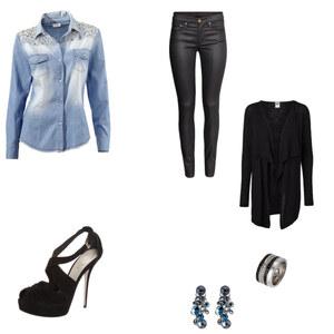 Outfit black and denim von Alessandra Ferrara
