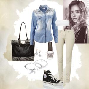 Outfit jeans hemd von Natalie