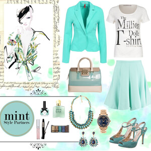 Outfit Mint Million Dollar Baby <3 von Heidi Bordt
