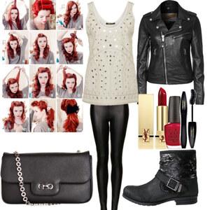 Outfit Pinup style mit haarroutine <3 von Nisa