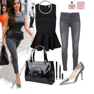 Outfit Kim Kardashian Peplum Look von marcela