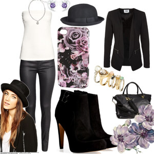 Outfit black velvet von Claudia Giese