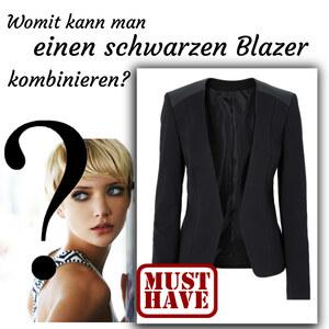 Outfit Schwarzer Blazer von domodi