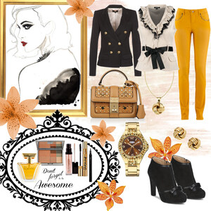 Outfit Gold & Honey von Heidi Bordt