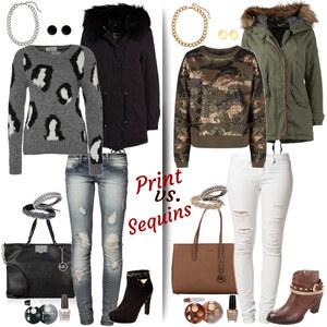 Outfit Print vs. Sequins von Natalie