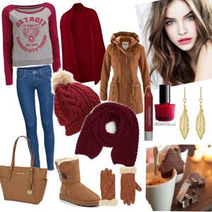 Outfit Spaziergang über den Weihnachtsmarkt von YAS MINA