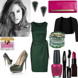 Outfit green and pink von Claudia Giese