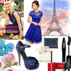 Outfit blaue spitze von Claudia Giese