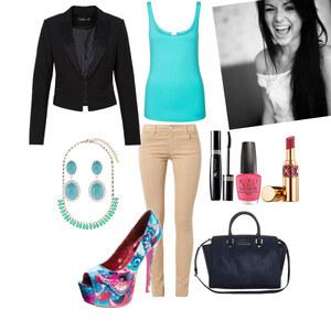 Outfit Hauptsache auffällig ;-) von YAS MINA