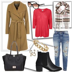 Outfit Camel Coat Style von eine_hexe