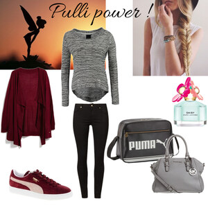 Outfit Pulli und Handtaschen power  von Sara Blueland