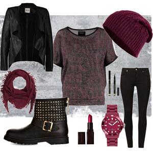 Outfit Schwarz-Rot von Frabau2509