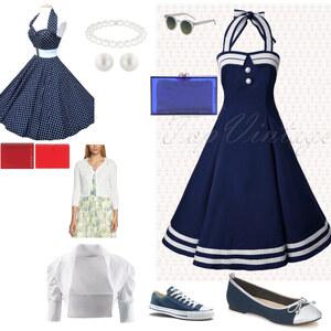 Outfit maritim von Angelika Wagner